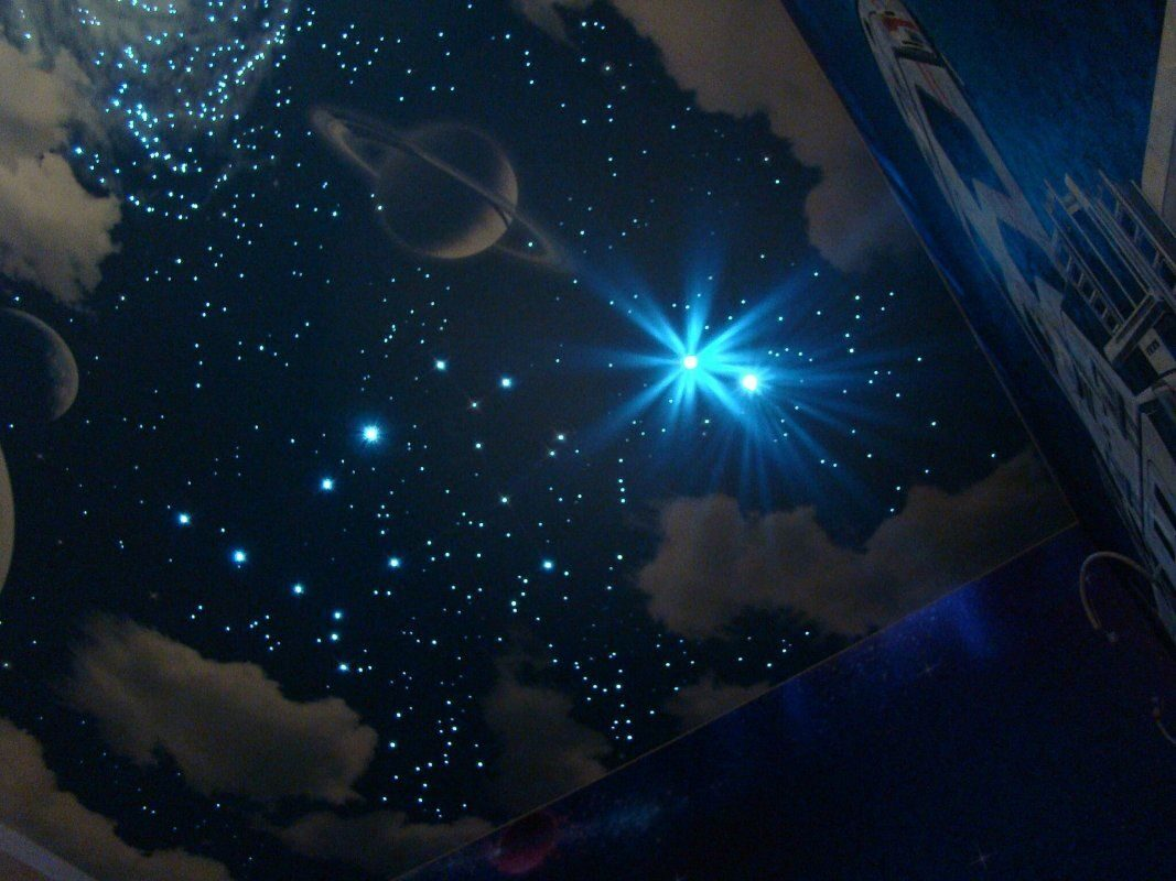 Натяжные потолки Звездное Небо - заказать в Санкт